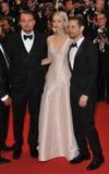 Leonardo DiCaprio & Carey Mulligan & Tobey Maguire Stock Photos