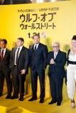 Leonardo DiCaprio, Jonah Hill och James Martin Scorsese Royaltyfria Foton