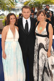 Leonardo Dicaprio & Leila康诺尔斯Petersen &纳迪亚康诺尔斯 免版税库存图片