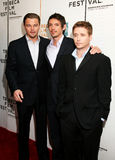 Leonardo DiCaprio, Lukas Haas, and Kevin Connolly. Producer Leonardo DiCaprio, Actor Lukas Haas, and Director Kevin Connolly arrive on the red carpet for the Royalty Free Stock Image