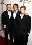 Leonardo DiCaprio, Lukas Haas, y Kevin Connolly Imagen de archivo libre de regalías