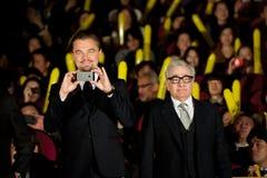Leonardo DiCaprio Martin Scorsese i James Fotografia Royalty Free