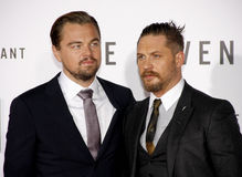 Leonardo DiCaprio and Tom Hardy Stock Photography