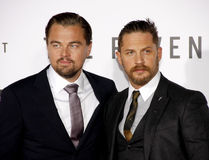 Leonardo DiCaprio and Tom Hardy Stock Images
