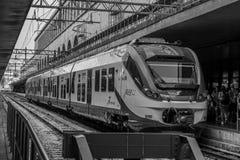 Leonardo Express Trenitalia stoped in Roma Termini Train Station in Rome - Itali? stock foto