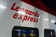 Leonardo Express-Zug, Rom, Italien lizenzfreie stockfotografie