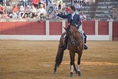 Leonardo Hernandez, bullfighter on horseback spanish Royalty Free Stock Photos