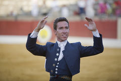 Leonardo Hernandez, bullfighter on horseback spanish Stock Photography