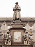 Leonardo Statue Stock Afbeelding