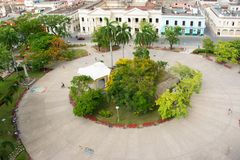 Leoncio Vidal Plaza in Santa Clara,Cuba Stock Photography