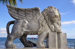 Leone alato di Venezia Immagini Stock Libere da Diritti