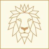 Leone basso del mosaico poli illustrazione vettoriale