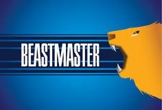Leone-bestia-Master-fondo Fotografie Stock Libere da Diritti