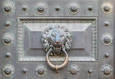 Leone Bronze Fotografia Stock