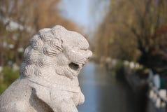 Leone cinese del guardiano Fotografie Stock Libere da Diritti