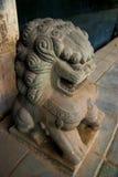 Leone cinese del guardiano, cane di Fu, leone di Fu, Bangkok Immagine Stock
