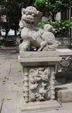 Leone cinese del guardiano. Punto di vista di Lin Fung Temple fotografia stock libera da diritti