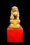 Leone del cinese dell'oro Fotografia Stock Libera da Diritti