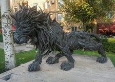 Leone del ferro di Yerevan immagine stock libera da diritti