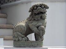 Leone del guardiano del tempio Fotografie Stock Libere da Diritti