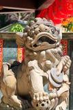 Leone della scultura Immagine Stock