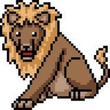 Leone di arte del pixel di vettore illustrazione vettoriale