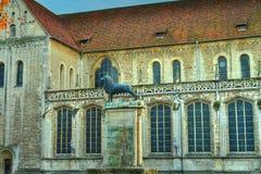 Leone di Braunschweig (HDR) Fotografia Stock