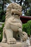 Leone di pietra cinese Fotografia Stock Libera da Diritti
