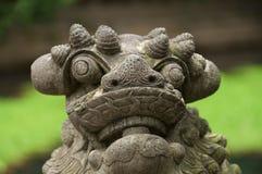 Leone di pietra cinese Fotografie Stock
