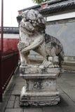 Leone di pietra cinese Immagini Stock Libere da Diritti