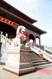 Leone di pietra cinese fotografia stock