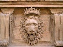 Leone di pietra, giardini di Boboli, Firenze Fotografia Stock