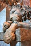 Leone di sonno del Vaticano Fotografia Stock Libera da Diritti