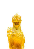 Leone dorato di stile tailandese Immagini Stock