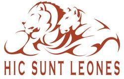 Leone Hic sunt Στοκ εικόνα με δικαίωμα ελεύθερης χρήσης