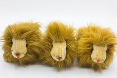 Leone lanuginoso delle bambole Fotografia Stock
