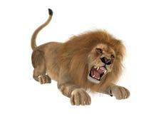 leone maschio della rappresentazione 3D su bianco Immagine Stock