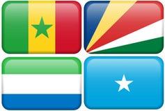 αφρικανικό Leone s Σενεγάλη Σεϋχέλλες Σομαλός κουμπιών Στοκ Εικόνες
