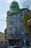 leones centro del ‹del †del ‹del †de la Lviv-ciudad Imagenes de archivo