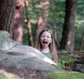 Leones, tigres, e hija Imágenes de archivo libres de regalías