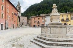 Leonessa Rieti, Włochy (,) Zdjęcia Stock