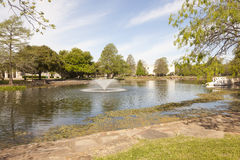 The Leonhardt Lagoon at the Fair Park, Dallas, Texas Stock Photography