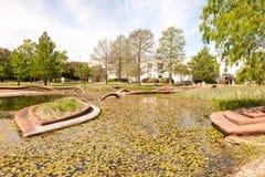 The Leonhardt Lagoon at the Fair Park, Dallas, Texas Stock Photography