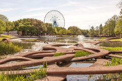 The Leonhardt Lagoon at the Fair Park, Dallas, Texas Stock Photos