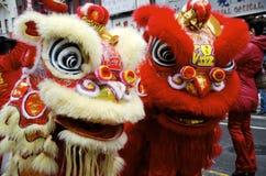 Leoni cinesi Fotografia Stock
