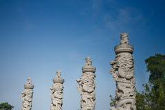 Leoni di pietra Fotografia Stock