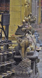 Leoni di Swayambhunath Fotografie Stock
