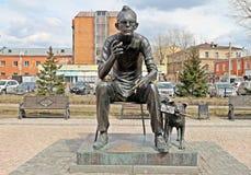 Leonid Gaidai Statue fotografía de archivo