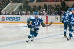Leonid Komarov (dynamo 87) l'échauffement Image stock