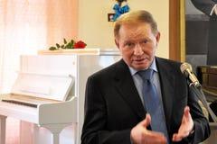 Leonid Kuchma in Chortkiv_2 Royalty-vrije Stock Foto